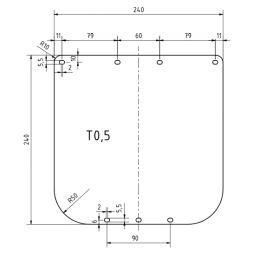 Schutzschild 0.5 mm