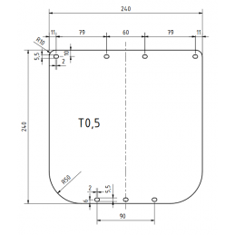 Sheet protector  0.5 mm